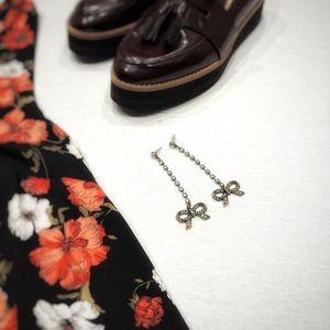 Betsey Johnson Dangle Bow Earrings